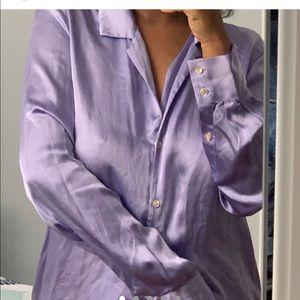 Lavender aritzia silk top